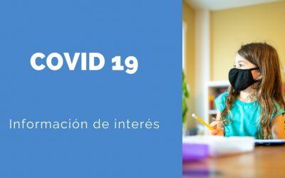 Documentos de interés sobre el COVID 19 para el comienzo de curso 2021-2022.