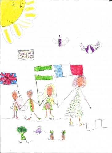 Julia Bac Suero Infantil 3 años.