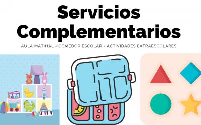 Precios del Aula Matinal, Comedor Escolar y Actividades Extraescolares.